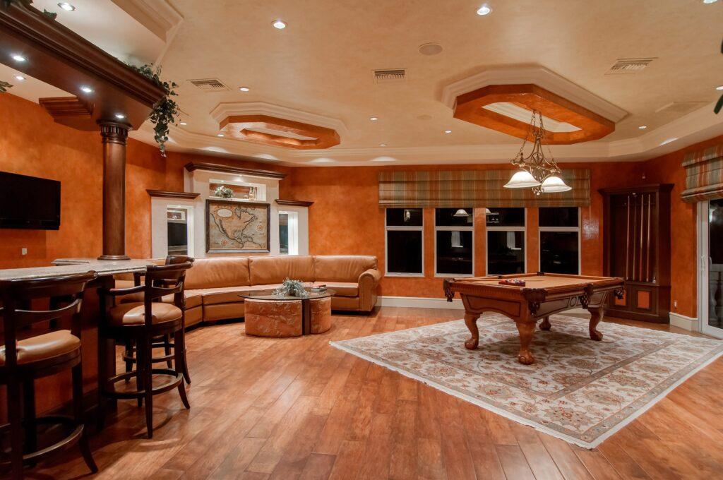 Modern wooden house interior